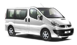 rent a car 7, 9 seats renault trafic minibus