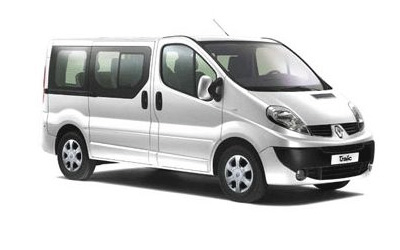 rent a car renault trafic minibus